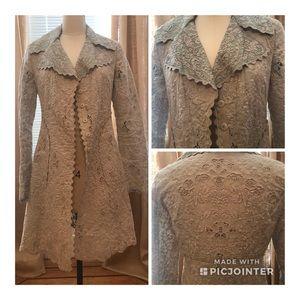 Tahari fully embroidered coat